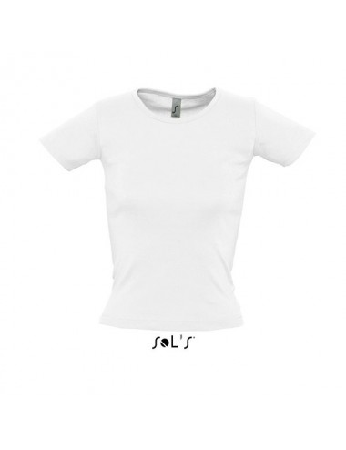 95b2a78745f5 Sol s Lady O White Offer - 11830. Women s round collar t-shirt