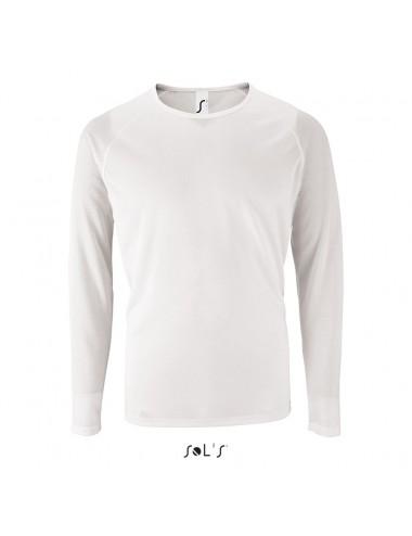 Sol's Sporty 3XL LSL Men Λευκό - 02071